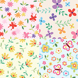 floral set pattern