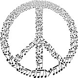 musical peace symbol