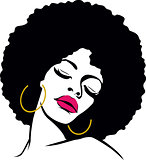 afro hippie woman