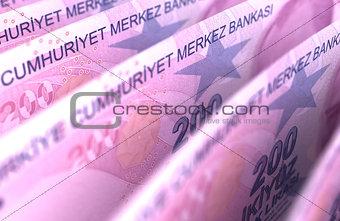 Turkish Lira Close-Up