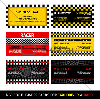 Business card taxi - eleventh set