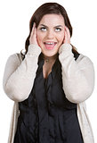 Yelling Woman with Covered Ears
