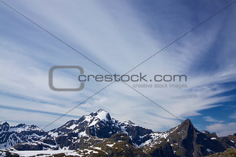 Cloudscape over mountains