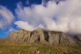 Clouds over cliffs