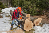 Cutting wood