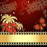 Vintage floral card