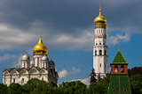 Archangel cathedral and Ivan the Great bell tower of Moscow Krem