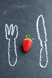Fresh whole strawberry