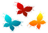 Butterflyes as a colorful blots