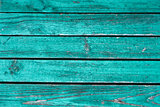 Old horizontal wooden fence