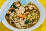 Hokkien Prawn Mee Soup Noodle Closeup
