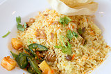 Indian Nasi Briyani Rice Dish Closeup