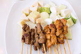Mutton and Chicken Satay Dish