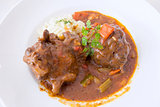 Ox Tail Stew with Mashed Potatoes