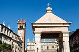 Monument on Piazza delle Erbe in Verona, Veneto, Italy