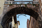Arch Between Piazza Erbe and Signori in Verona with Hanging Whale bone
