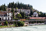 Adige River Embankment in Verona, Veneto, Italy