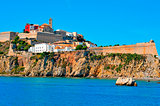 Dalt Vila, the old town of Ibiza Town, in Ibiza, Balearic Island