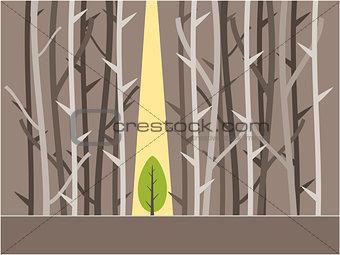 Tree background illustration