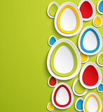 Easter eggs abstract colorful background.