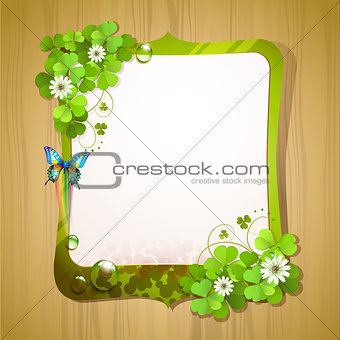Mirror frame with clover