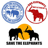 Save the elephants stamps 