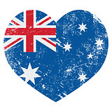 Australia retro heart flag