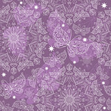 Vintage violet seamless pattern