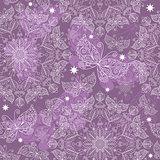 Vintage violet seamless pattern