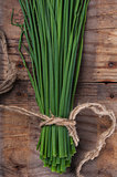 Bunch green onion chives