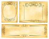 Vintage Paper Border Set
