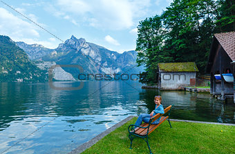 Traunsee summer lake (Austria).