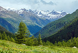 Summer mountain cloudy landscape (Switzerland)