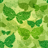 Spring green seamless pattern