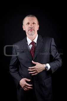 Tidy mature successful businessman