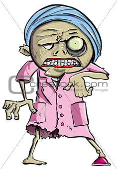 Cartoon zombie grandma