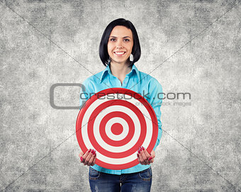 Girl with a target