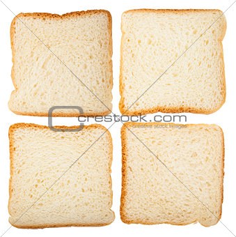 Collection of slices of bread