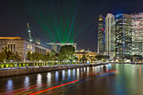 Singapore City Skyline Light Show