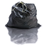 Garbage Bag Over White
