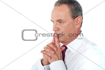 Portrait of thoughtful businessman