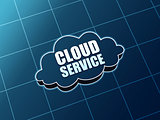 cloud service blue figure