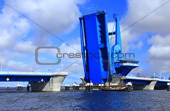 Lift Bridge at  Wolgast, Baltic Sea, Germany