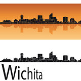 Wichita skyline in orange background