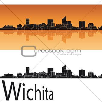 Wichita skyline in orange background