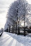 Winter quay. Yaroslavl, Russia
