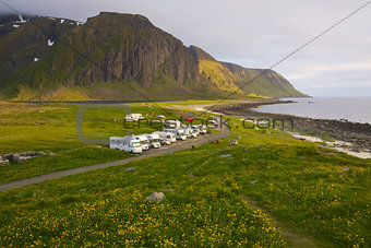 Caravans on Lofoten islands