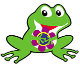 cartoon childish frog
