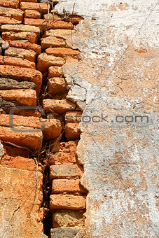 Ancient Wall with Cracked
