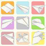 Paper Plane Model Collection Set